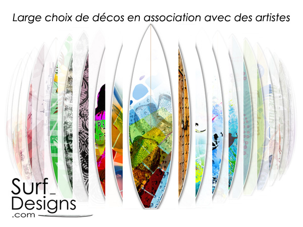Surf designs industrie surf lacanau surf info - Planche de surf de decoration ...