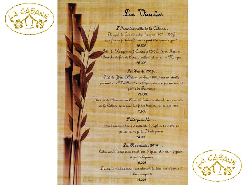 restaurant la cabane lacanau