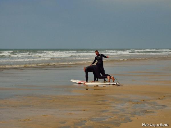 Le Stade Français prend un cours de surf