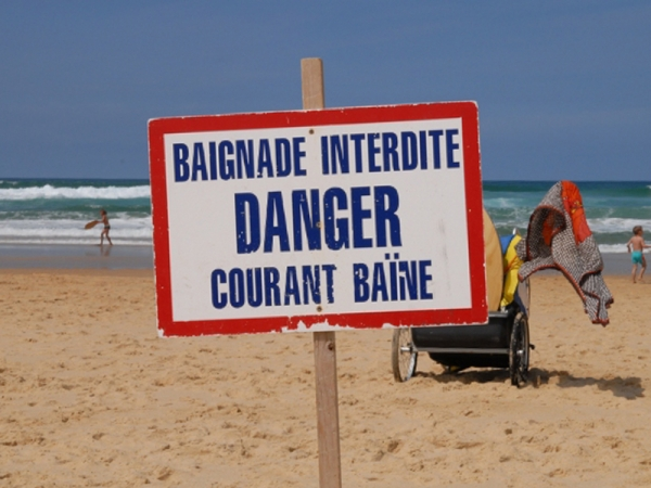 Le danger des courants de baïnes