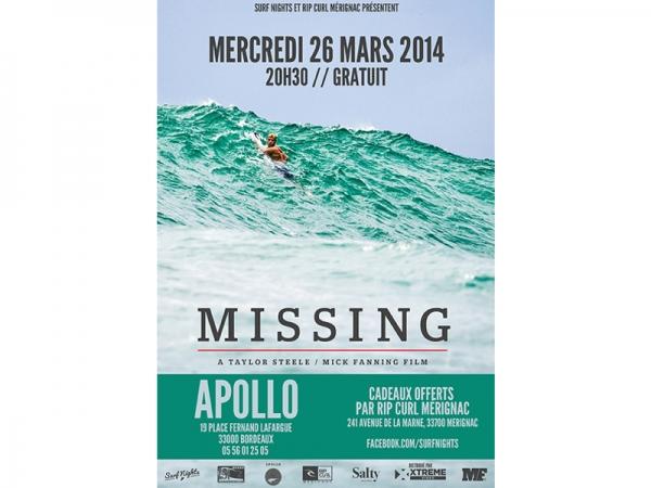 Film de Surf MISSING à Bordeaux