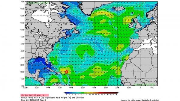 Bertha - Swell du 11-12-13 août