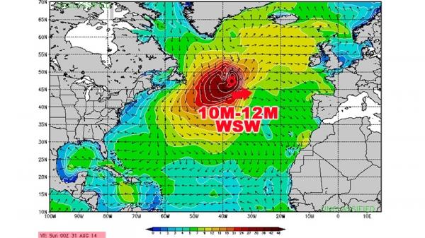 Cristobal - Swell du 01-02-03-04 septembre