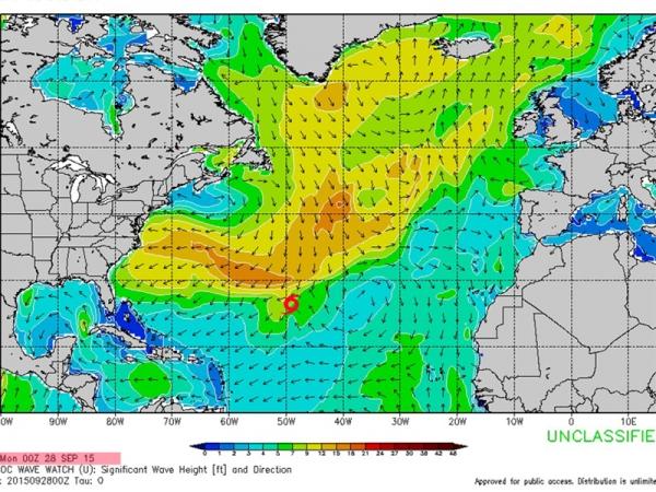 Cyclone Joaquin - Swell du 10-11-12-13 octobre