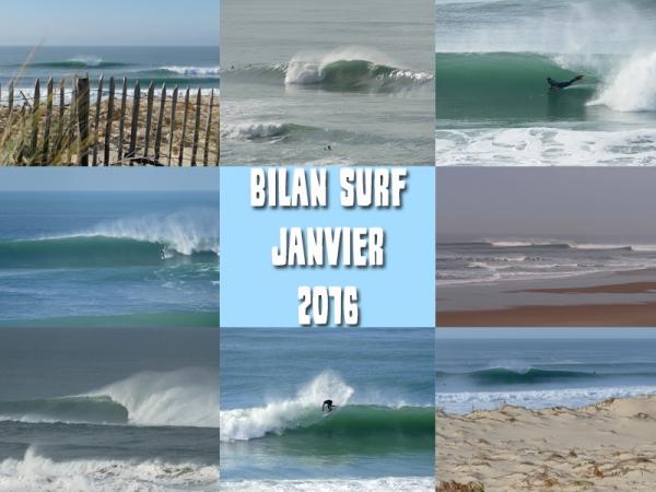Bilan Surf Janvier 2016