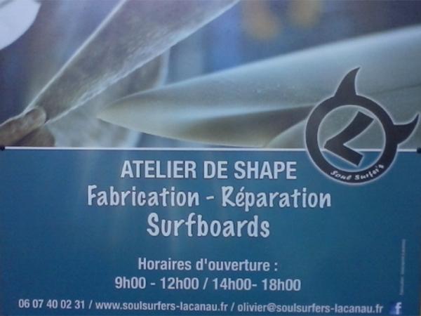 Shaper et réparations à Lacanau - OLIVIER LABAT - SOUL SURFERS
