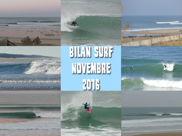 Bilan Surf Novembre 2016