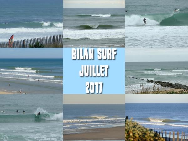 Bilan Surf Juillet 2017