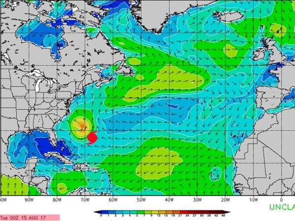 Cyclone Gert - Swell du 21 au 24 août