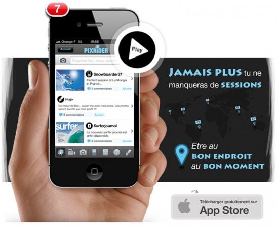 Pixrider lance son application IPhone
