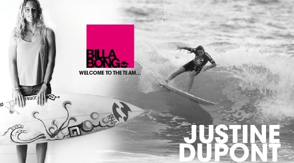 Justine Dupont surfe pour Billabong !!