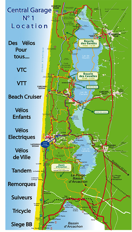 Location v lo lacanau central garage lacanau surf info for Tarif location garage