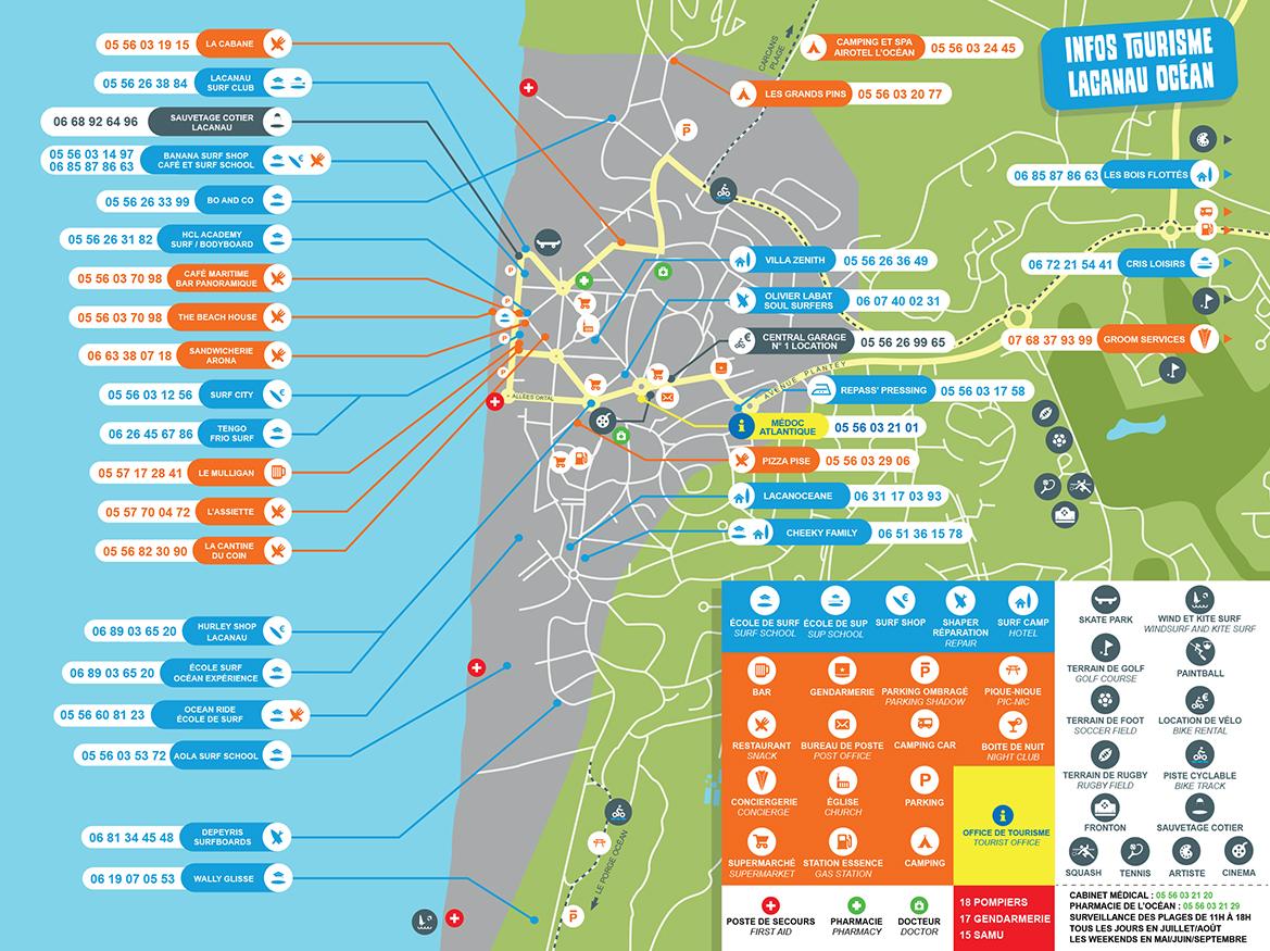 lacanau surfers map 2021