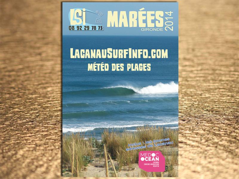 guide des marées lacanau surf info 2014