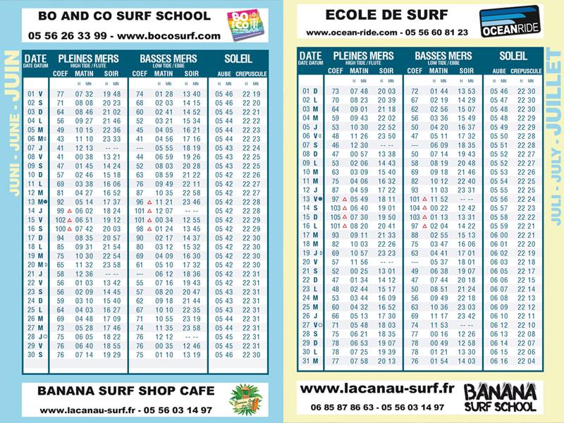 guide des marées lacanau surf info 2018