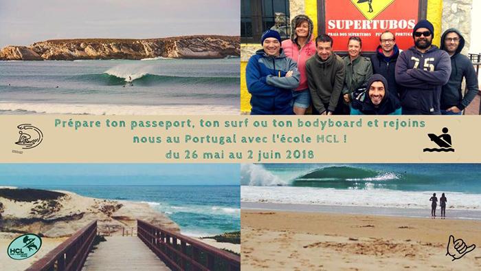 ecole de surf HCL portugal