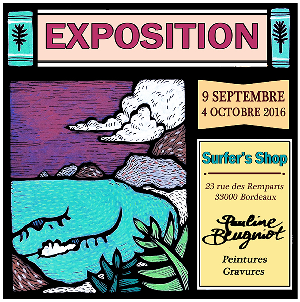 Exposition Pauline Beugniot au Surfer's Shop de Bordeaux