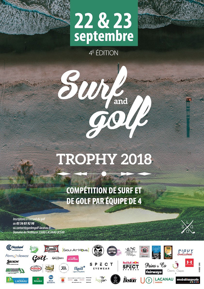 surf and golf trophy lacanau océan
