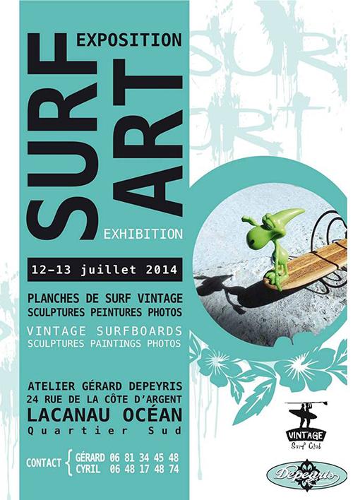 exposition surf art lacanau
