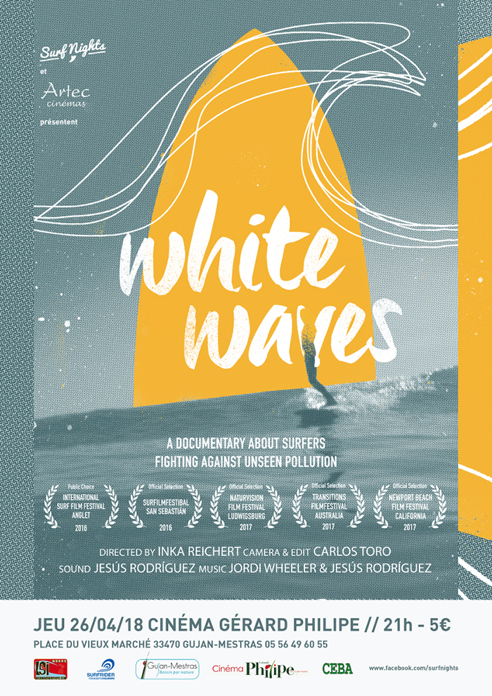 white waves surf nights