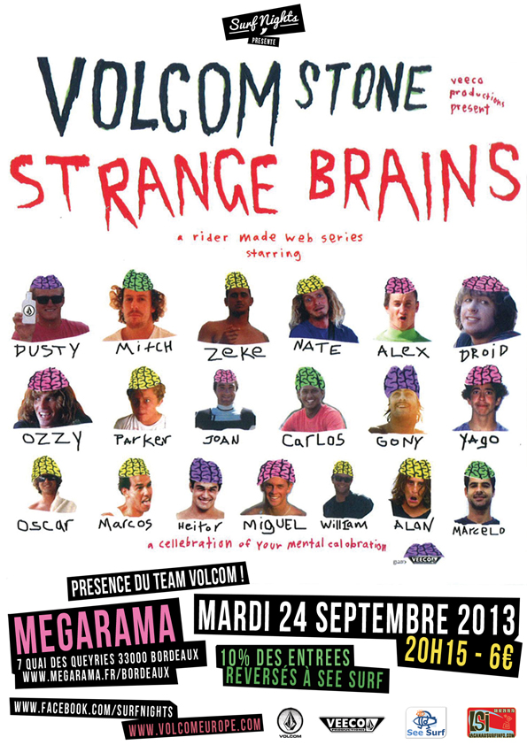volcom strange brains surf nights